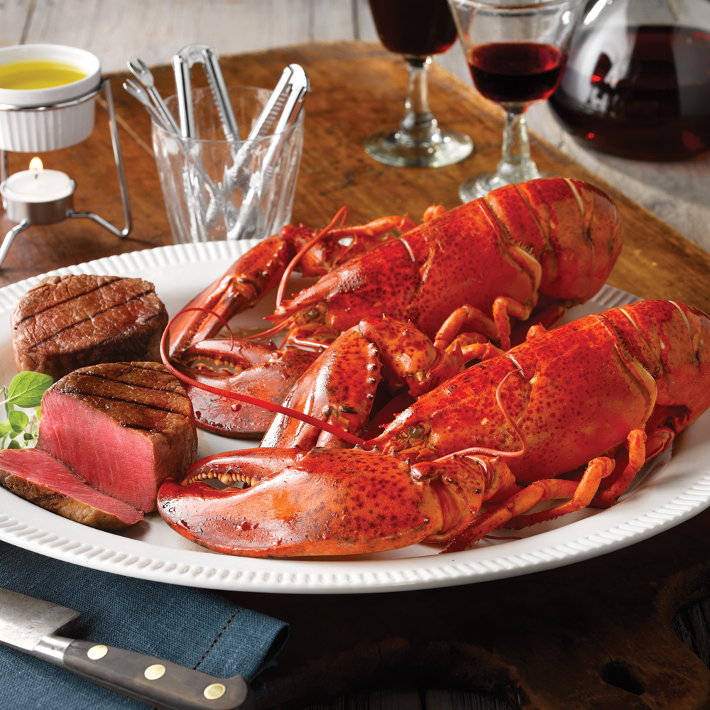 Live Lobster Surf & Turf
