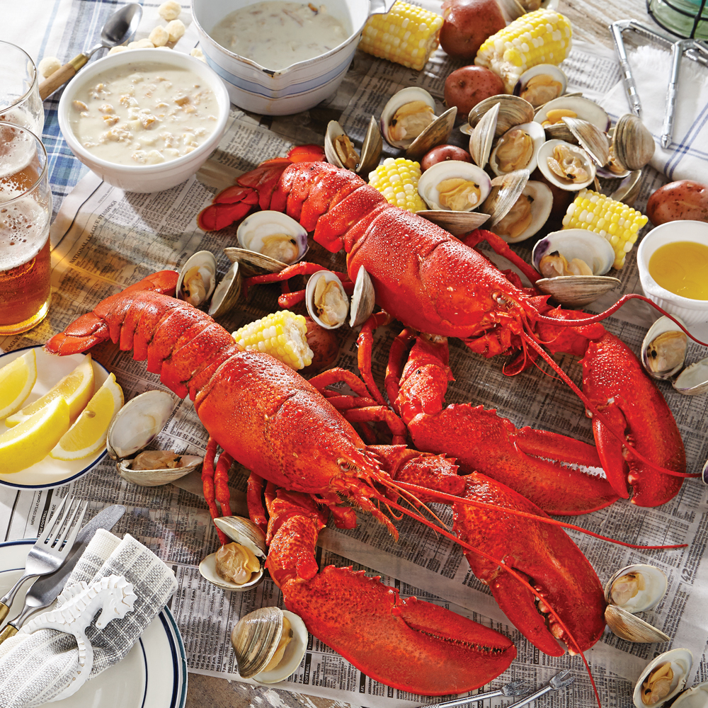 Maine Shore New England Clambake Lobster Dinner Gift Package