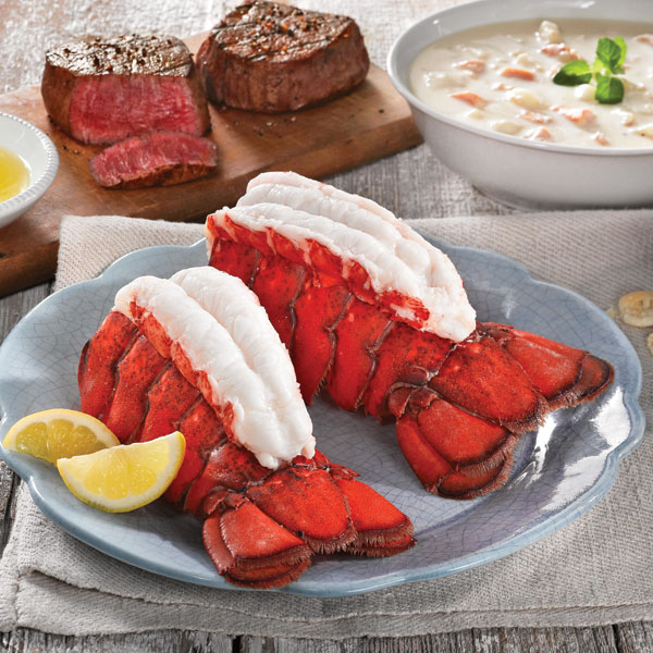 Ship to Shore Gram Maine Lobster Tail & Steak Dinner Gift Package