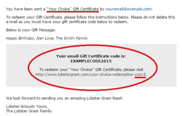 Your Choice Email Gift Card