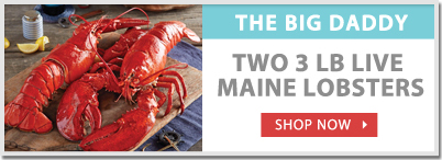 Limited Time: 3 lb. Big Daddy Maine Live Lobsters!