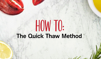 lobster tail quick thaw instructions