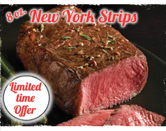 8 oz. New York Strips